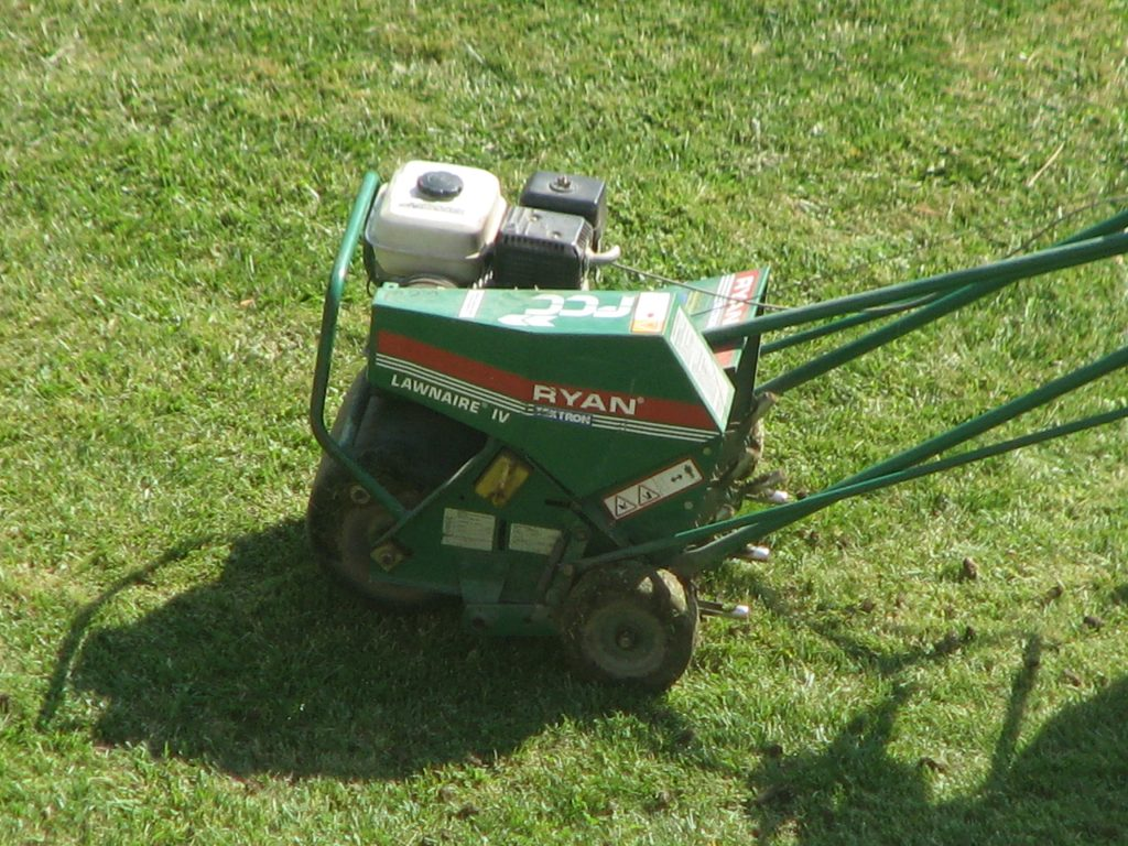 Core Lawn Aerator(Close-up) - LawnMate Quality Lawn Care